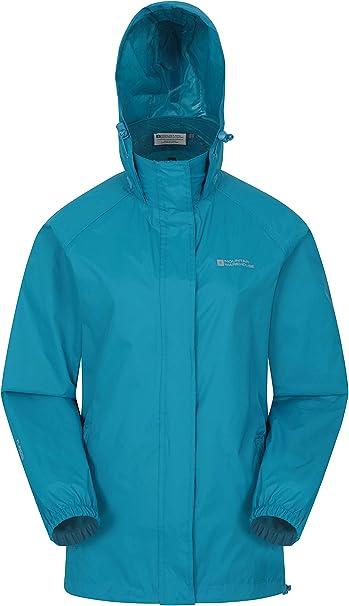 Mountain Warehouse Pakka Jacke für Damen Wasserfeste Regenjacke, Frau verstaubare Freizeitjacke, atmungsaktive, leichte Windjacke, bequemer