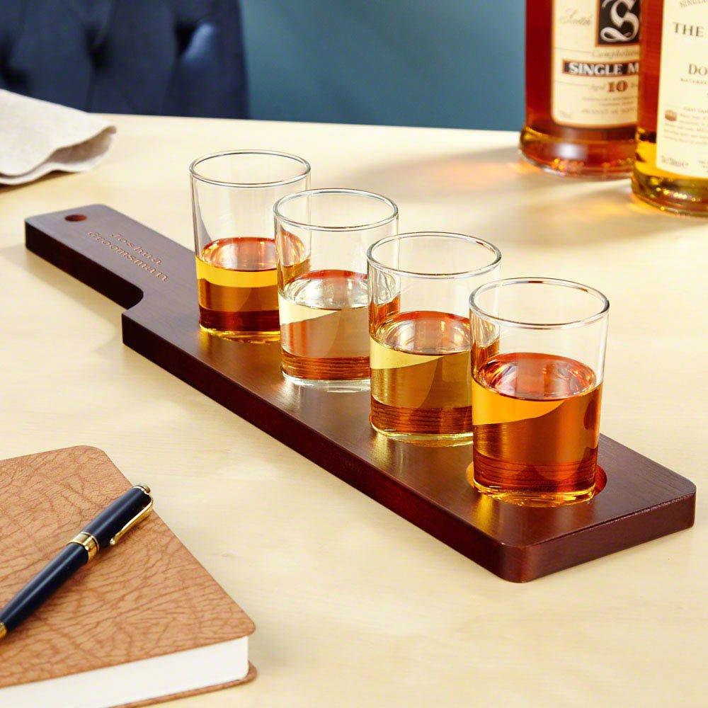 HomeWetBar Lexington Personalized Whiskey Flight Set (Customizable Product)