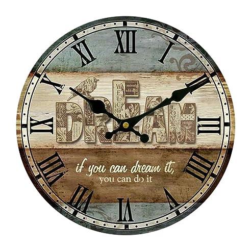 Wanduhr Vintage, Vicoki Wanduhr Retro Europäische Uhr für ...