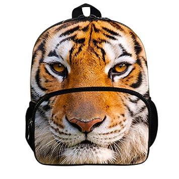 Gmin 3D Mochilas de Animales Tigre Mochilas Fieltro infantiles Escolar Tamaño 24x14x31cm (Color 1): Amazon.es: Equipaje