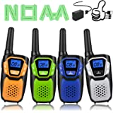 Walkie Talkies 4 Pack, Walkie Talkie for Kids Rechargeable Long Range 2 Way Radio for Boys and Girls Birthday for…