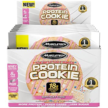 MuscleTech Soft Baked Whey Protein Cookie Birthday Cake Gluten Free 325