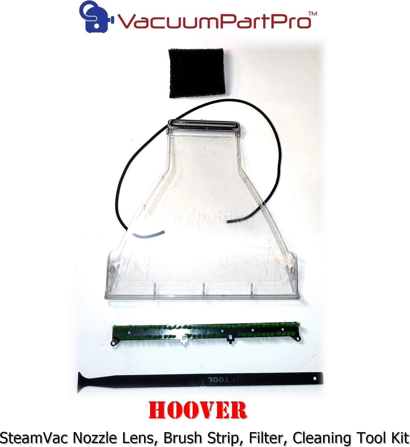 Hoover SteamVac Rebuild & Maintenance Kit for Models with Stationary Brush Strip Vacuum Part Pro TM