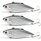 Dr.Fish Fishing Lure Crankbaits Rattlin Bait Bass Perch Baits Silver Treble Hooks Lipless Freshwater and Saltwater Minnow SetSwimbaits Topwater Loaded in Box