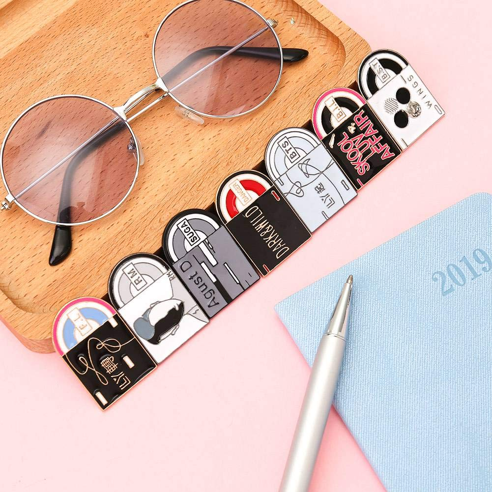 Youyouchard Kpop BTS Brooch Love Yourself JUNG KOOK-2 Speak Yourself Creative Badge Button Pin Brooches Accessories for Clothes Hat Backpack Decoration