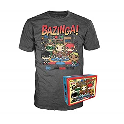 POP! Funko 2020 Summer Convention Exclusive Tee Big Bang Theory Bazinga Size Small (SM) Grey: Clothing