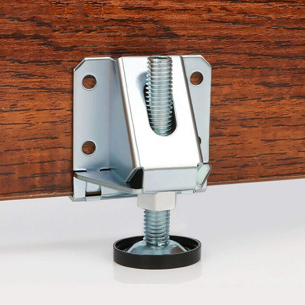 Mesa szyzl88 Tornillos Ajustables 2 Piezas Almohadillas Antideslizantes Pies de nivelaci/ón Niveladores de Muebles Resistentes Niveles de Patas de Mesa Ajustables Ideal para estanter/ías