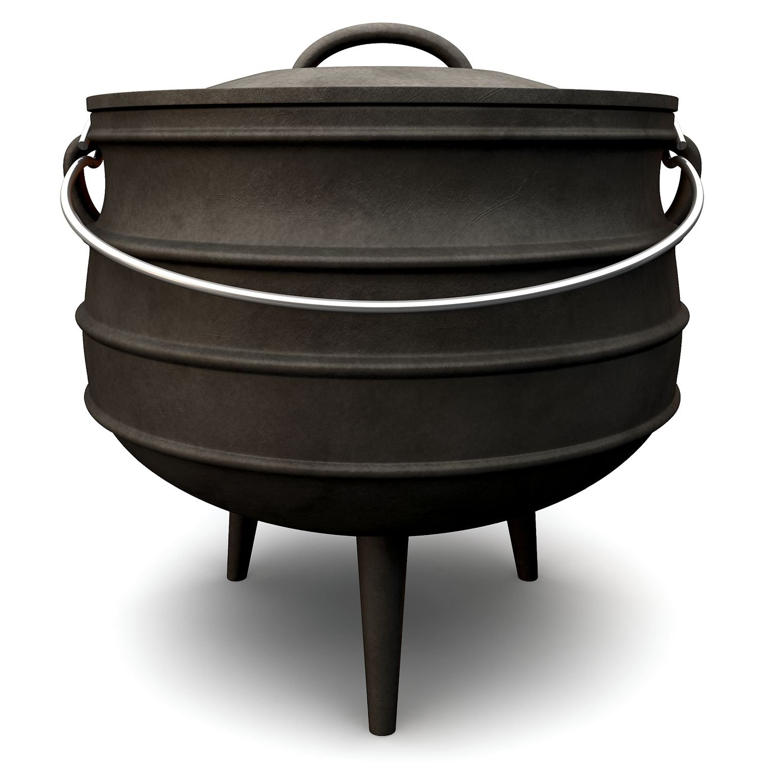Potjie, Cast Iron - approx. 8 litre kettle, cauldron - South African Dutch Oven BBQ-Toro