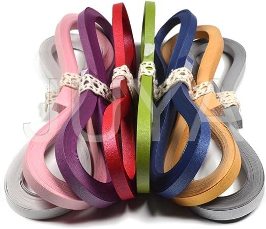 Largeur 3/mm//5/mm//7/mm//10/mm, longueur 39/cm 900/Bandes papier pour quilling Kits de bandes 10mm Black//Blue//Brown//Green//Orange//Purple//Red//Yellow