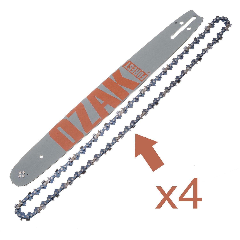 Combo Guide 45 cm + 4 Chaines Pro .325 1.5 mm=Oregon 188SLGK095 + 21/72E: Amazon.es: Jardín