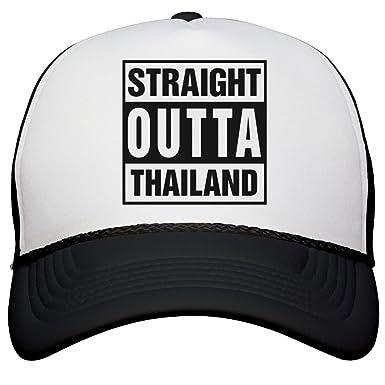 44d614c51b6 Amazon.com  FUNNYSHIRTS.ORG Straight Outta Thailand Trucker ...