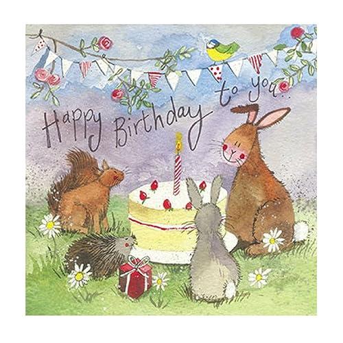 Woodland Animals Birthday Greeting Card By Alex Clark Forest Party