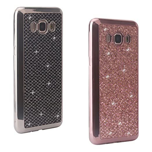 2 opinioni per 2PCS Galaxy J5 J510 2016 Case, Moon mood Ultra Slim Bling Bumper Silicone TPU