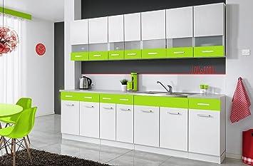 Komplette Kuche Mambe Weiss 260 Cm Verschiedene Farbkombinationen