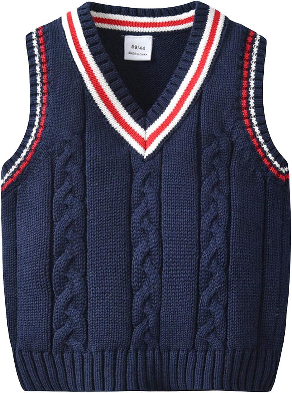 EOZY Baby Jungen West Pullover /Ärmellos Strickweste Pullunder Sweatshirt