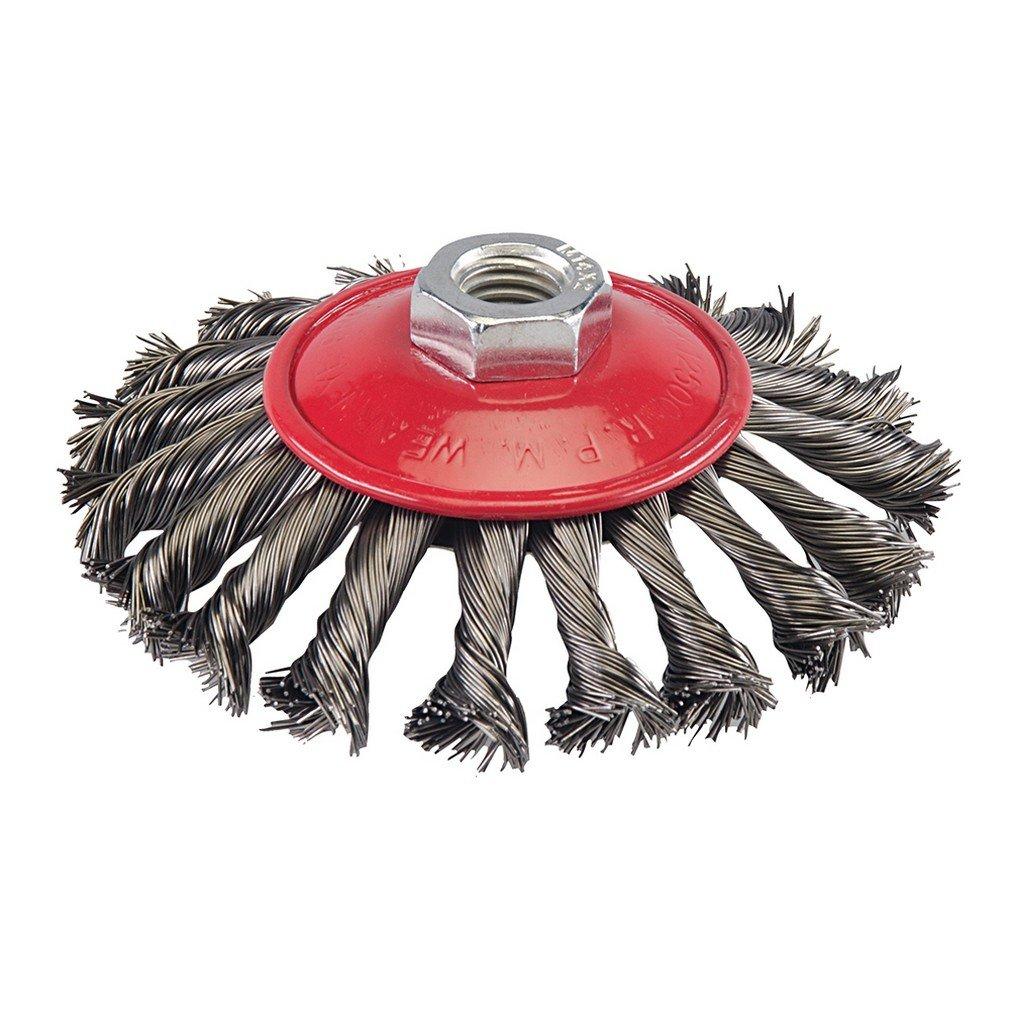 Silverline 571536 Stahldraht-Scheibenrundb/ürste gewellt 50 mm