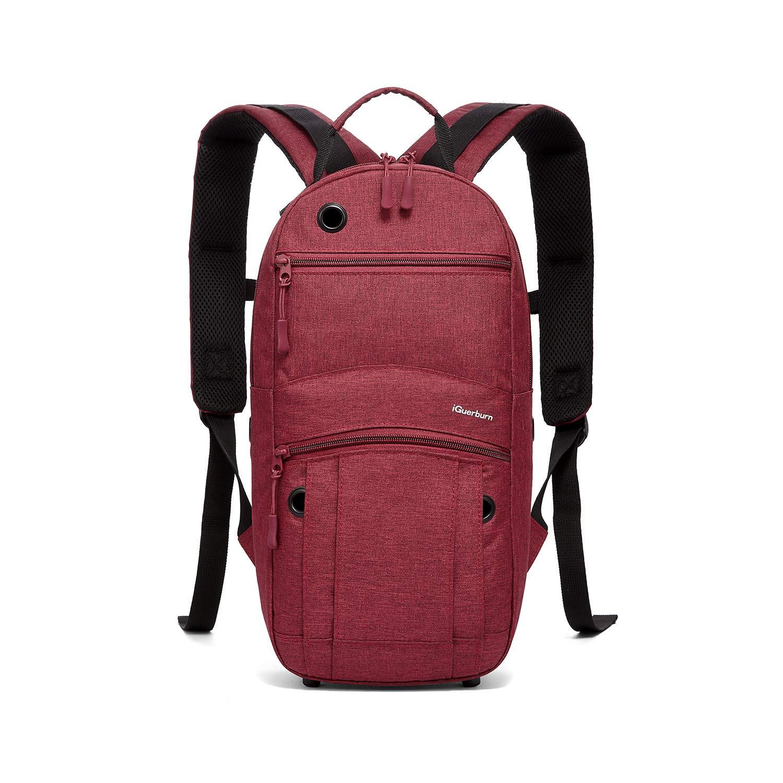 """iGuerburn Oxygen Tank Backpack Portable Oxygen Cylinder Carrying Carrier Bag Medical O2 Tank Holder for Size M2, A/M4, ML6, B/M6, M7, C/M9 (Do not fit""""D"""" Tanks)-Red"""