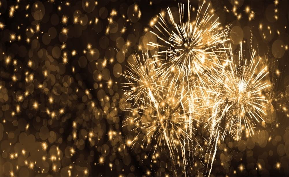 3X5FT New Year Fireworks Photography Backdrops lighting Photo Studio Background