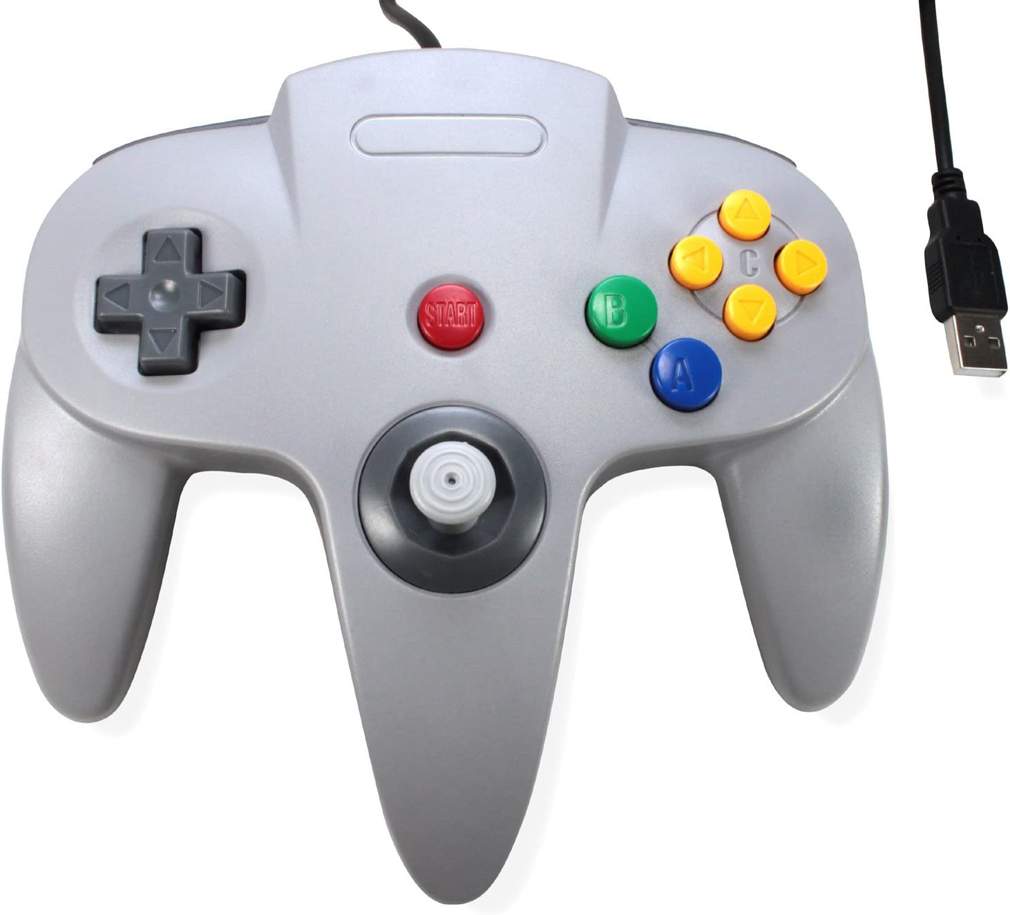 amazon com 3rd party classic retro n64 bit usb wired controller forWii Adapter Likewise Nintendo 64 Controller Button Layout Besides N64 #1