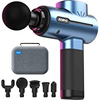 RENPHO Massage Gun Deep Tissue, Portable Massager Gun Deep Tissue Weighted Only 1.5lbs, Handheld Percussion Massage Gun…