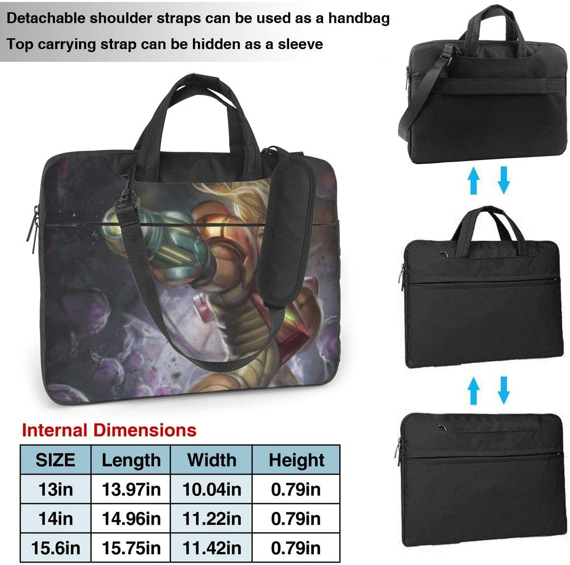 Laptop Sleeve Bag Metroid Prime Tablet Briefcase Ultraportable Protective Canvas for 13 Inch MacBook Pro//MacBook Air//Notebook Computer