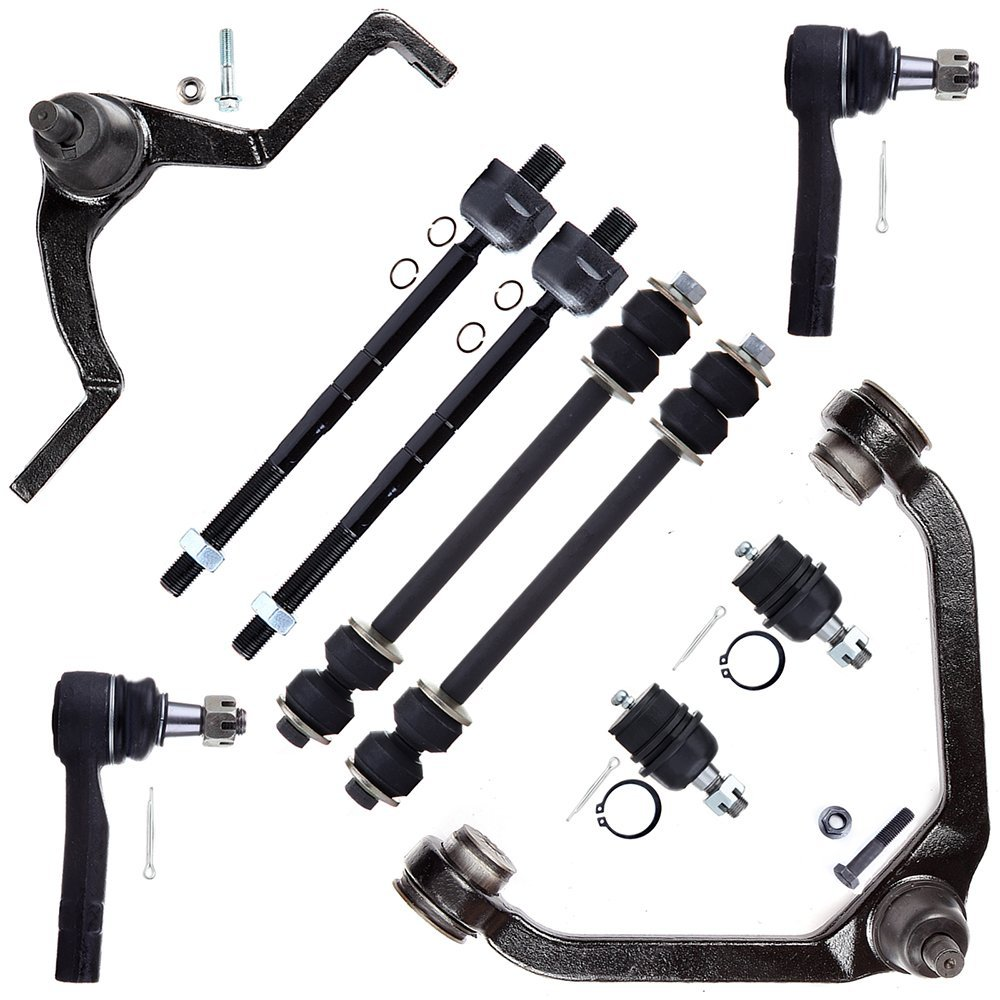 SCITOO 10pcs Suspension Kit 2 Sway Bar 2 Lower Ball Joint 1 Upper Control Arm And Ball Joint 1 Control Arm 4 Tie Rod End fit Ford Explorer Ranger Mazda B2500 B4000 Mercury Mountaineer 1995-2001 K8708T by SCITOO
