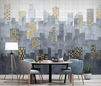Duvarkapla Modern Basit şehir Mimarisi Tv Arka Plan Duvar Boyama