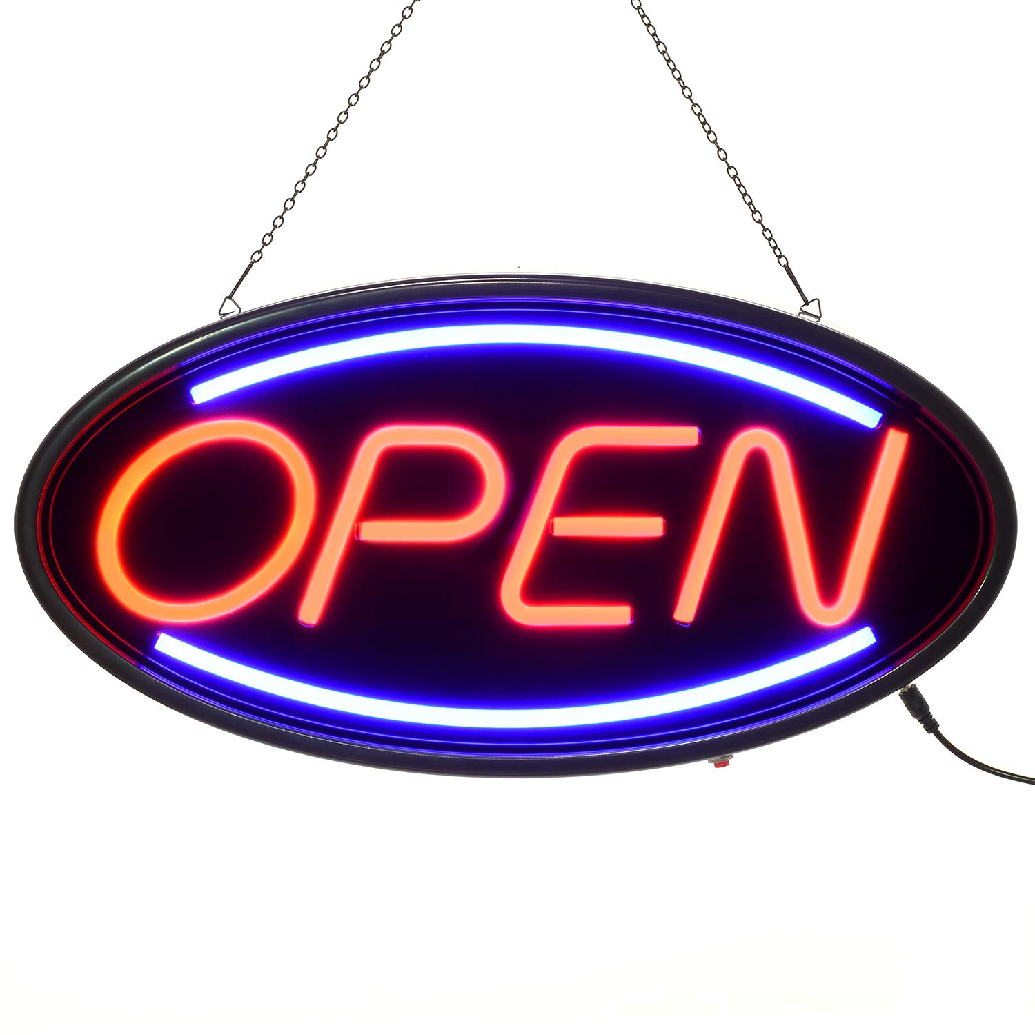Doingart LED Open Sign, 19''x10'' Business Neon Open Sign with 3 Lighting Modes Steady/Flash/Flowing, Electronic Lighted Sign for Business, Walls, Window, Store, bar, Hotel