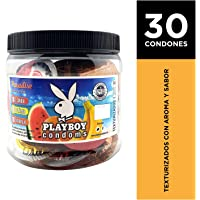 Playboy Condoms Vitrolero con 30 Condones Paradise
