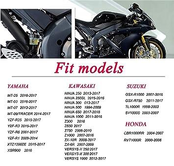 Motorcycle Rear Brake Fluid Reservoir Cap Cover FOR YZF R1 R25 R3 R6 MT07 FZ07 FJ07 MT09 FZ09 FJ09 SUZUKI GSXR 600 750 1000 KAWASAKI Z1000 1000SX ZX6R ...