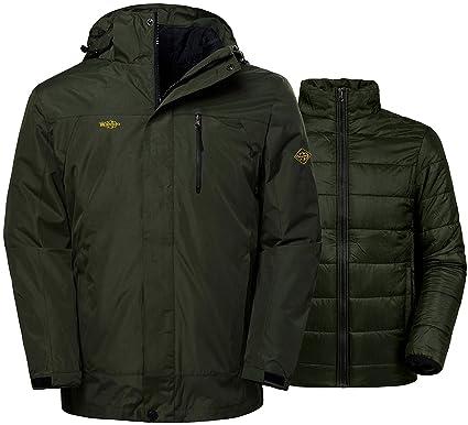 0bda24e2a7 Wantdo Men s Waterproof 3-in-1 Skiing Jacket Softshell Snowboarding Coat  Wind Resistant Rainwear