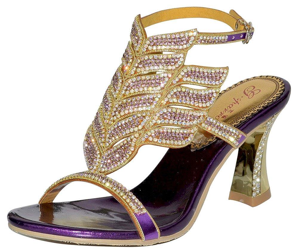 Abby Womens Wedding Party Show Work Comfort Mid Heel Micro-Fiber Sandals