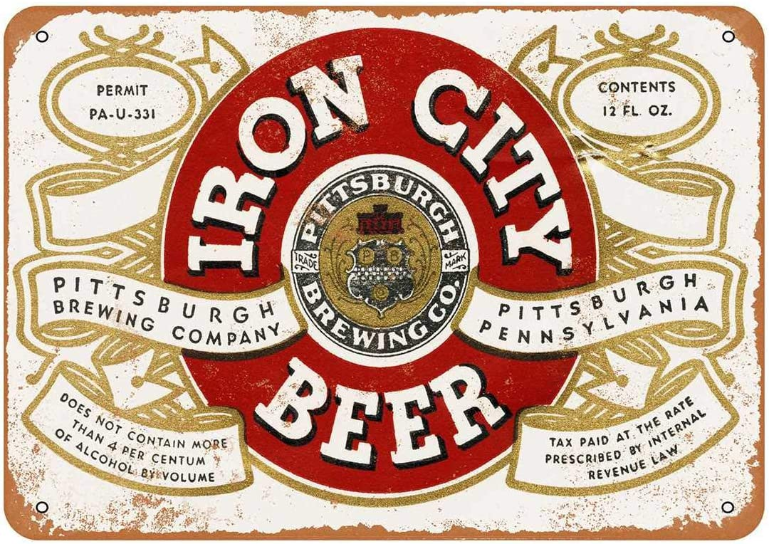 43LenaJon 1933 Pittsburgh Iron City Beer Vintage Look Metallschild