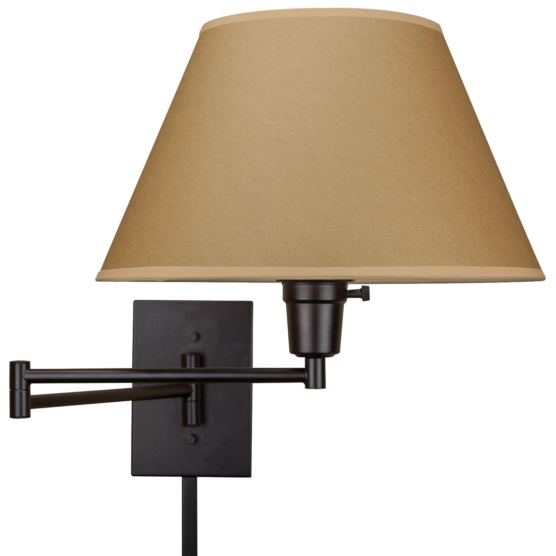 """Kira Home Cambridge 13"""" Swing Arm Wall Lamp Plug in Wall Mount"""