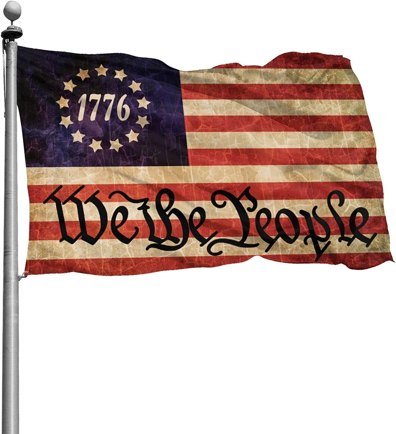 HUIHUANGm We The People Betsy Ross 1776 Flag Banner Flags Garden Flag Home House Flags Outdoor Flag USA Flag 4x6 Ft