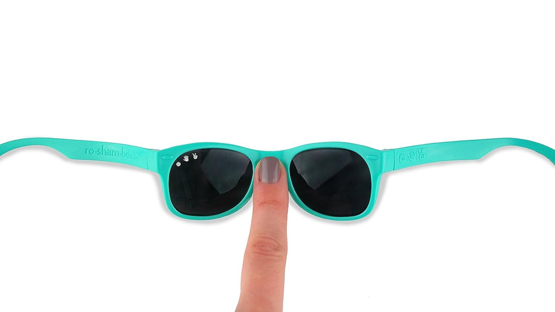 Roshambo Baby Shades Unbreakable Sunglasses 100/% UVA//UVB Protection for Babies 0-18months Bueller Black//Purple