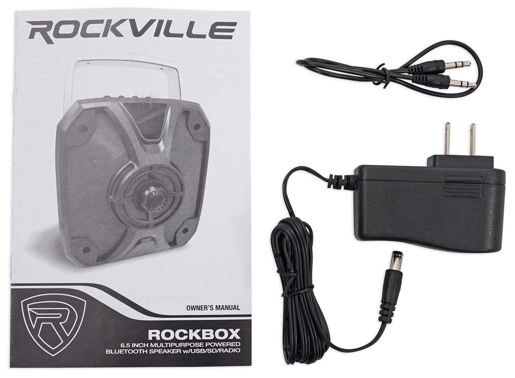 Rockville ROCKBOX 6.5'' 100 Watt Portable Rechargable Bluetooth Speaker w USB/SD by Rockville (Image #8)
