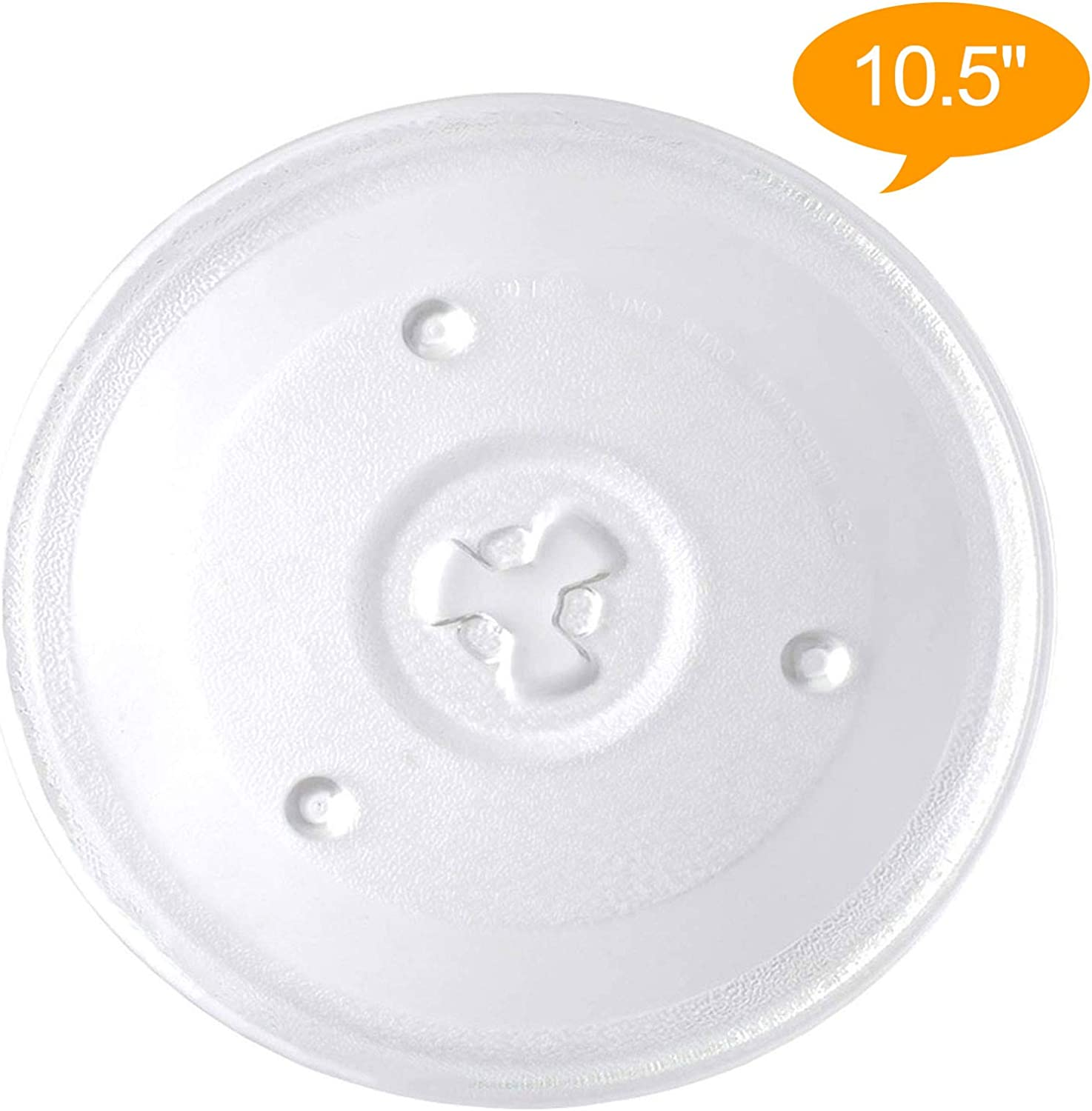 270mm Replacement for Emerson MW8995 Microwave Glass Plate 10 1//2 Compatible with Emerson P23 252100500497 Microwave Glass Turntable Tray
