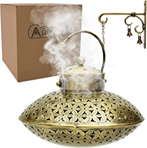AppyHut Incense Burner Holder with Wall Bracket & 20 Incense Cones, Antique Home Wall Decor Spiritual Aromatherapy Meditation Gifts- Hand Crafted!