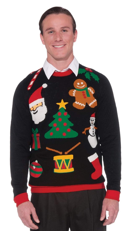 7f78e208afa Amazon.com  Forum Novelties Everything Christmas Men s Sweater  Clothing