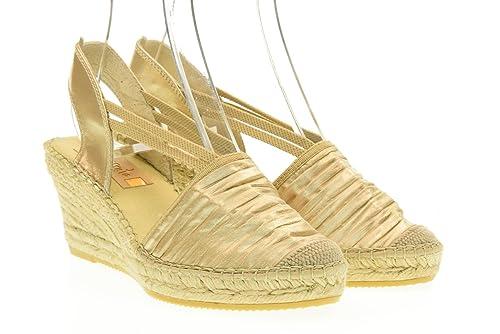 VIDORRETA Zapatos de Mujer Sandalias de cuña Alpargatas 18400 Oro Talla 39 Oro: Amazon.es: Zapatos y complementos