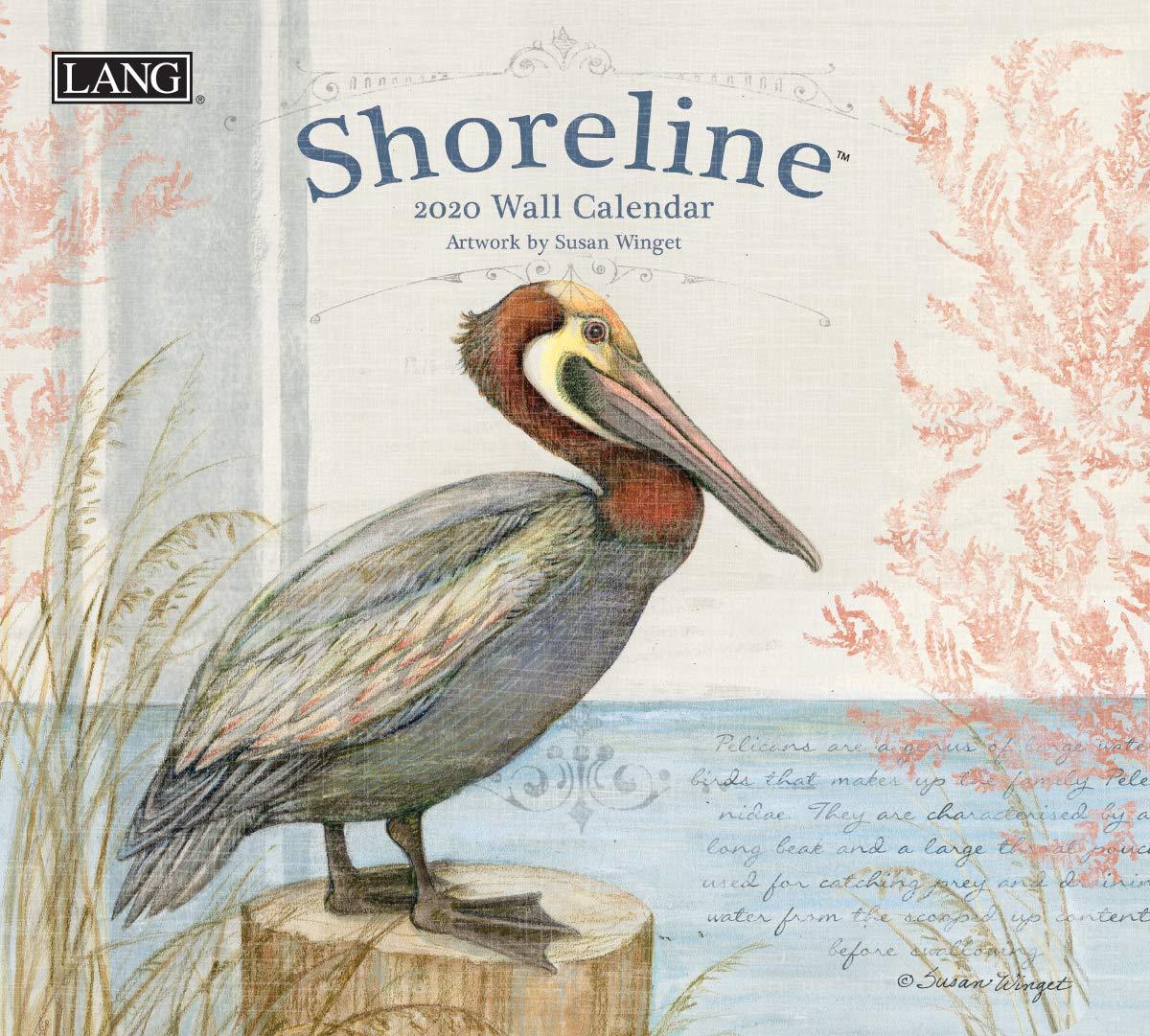 20991001993 The LANG Companies Shoreline 2020 Wall Calendar Office ...