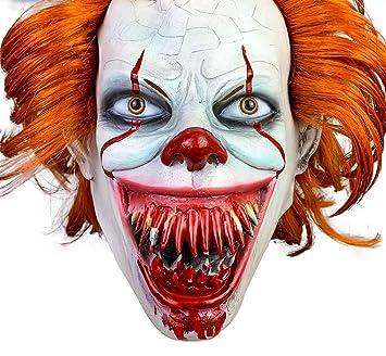 yacn Máscara de Payaso Aterrador Pennywise Halloween, Ojos ...