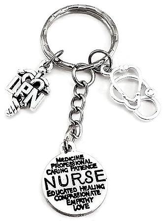 Enfermera llavero, Lpn estetoscopio de llavero, llavero ...