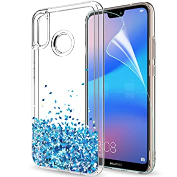 c5639b94bb0 LeYi Funda Huawei P20 Lite Purpurina Carcasa Fundas Case Carcasas para Movil  Huawei P20 Lite ZX Verde/Púrpura (ZX Huawei P20 Lite EU TSBlue): Amazon.es:  ...