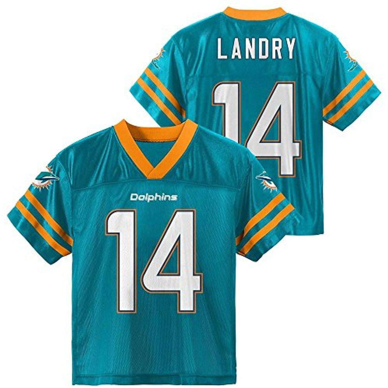 quite nice 2d87d 2eb2b Amazon.com: Jarvis Landry Miami Dolphins #14 Aqua Toddler ...