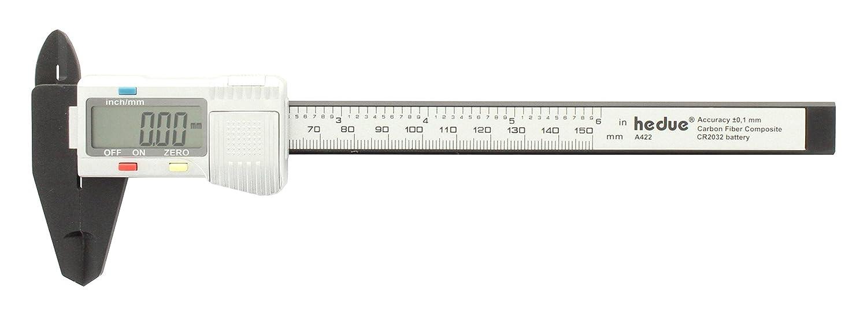 hedue Digital Messschieber 150 mm Carbon, A422
