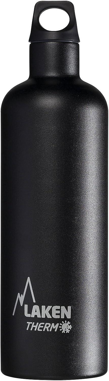 Laken Futura Botella Térmica Acero Inoxidable 18/8 y Doble Pared de Vacío, Unisex adulto, Negro, 750 ml