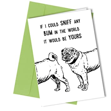 69 If I Could Sniff Any Bum VALENTINES OR BIRTHDAY CARD Rude Humorous Funny Greetings