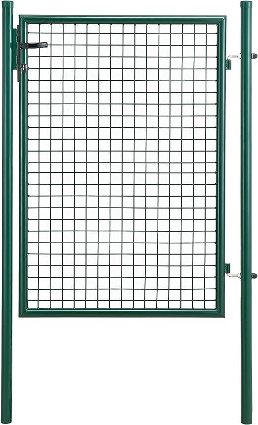 pro.tec] Puerta de jardín galvanizado (175x106cm) Verde - Incluye Cerradura y 3 Llaves - Puerta de Valla: Amazon.es: Jardín